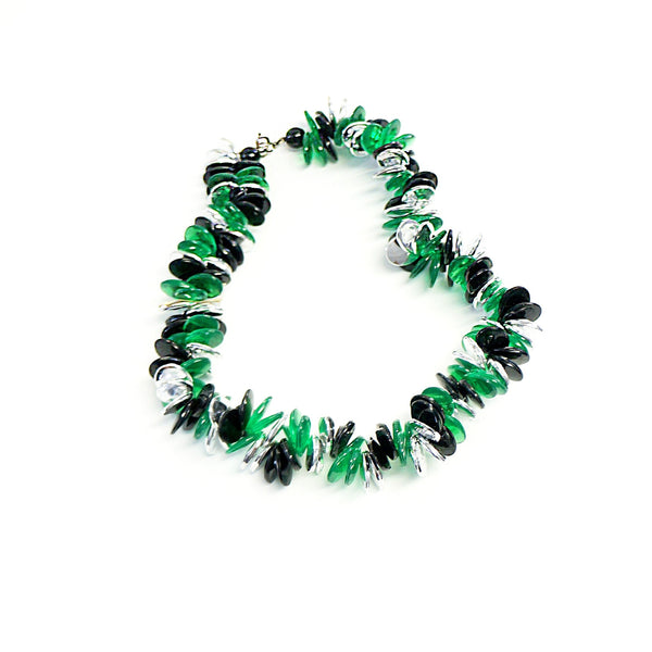 Plastic Vintage Jewelry Modernist Short Necklace