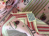 Beehives Pink Silk Scarf Vintage Accessory made in Japan