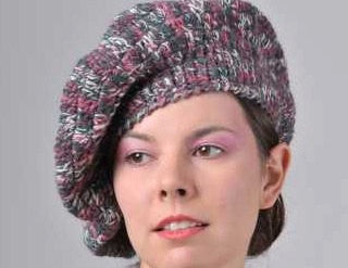 Missoni Vintage Beret Hat Cappello Boina Designer Knitwear Made in Italy