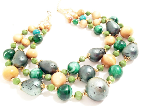 ART Vintage Jewelry Beaded Necklace