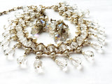 Darling Demi Parure Pearl and Crystals Vintage Jewelry Set