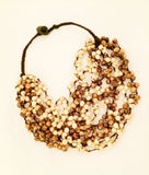 Handmade Vintage Jewelry Acai Seed Beaded Necklace Nature Beads