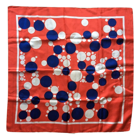 Polka Dots Nautical Scarf Vintage Accessories