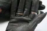 Black Leather Short Gloves Vintage Accessories