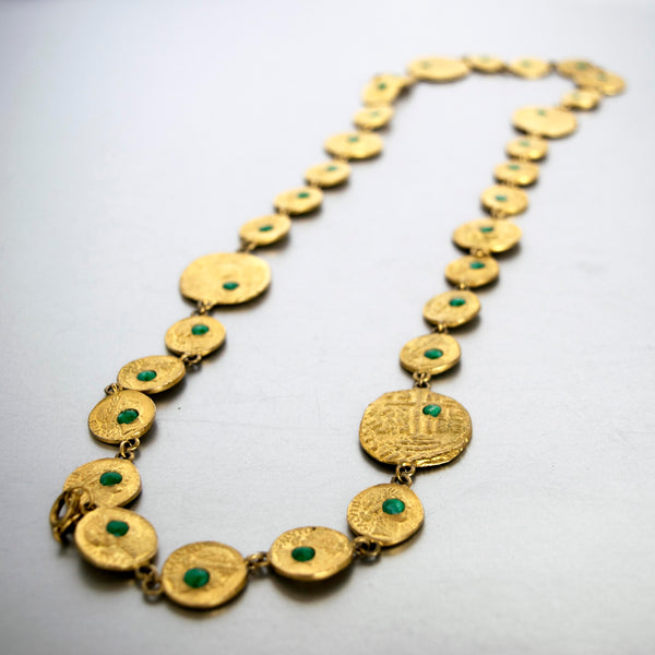 Pauline Rader Ancient Coins Necklace Vintage Jewelry ESPOSITO