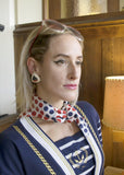Red White Blue Polka Dots Triangle Scarf Vintage Accessories