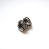 Armor Silver Ring Adjustable Bijoux Contempo Costume Jewelry