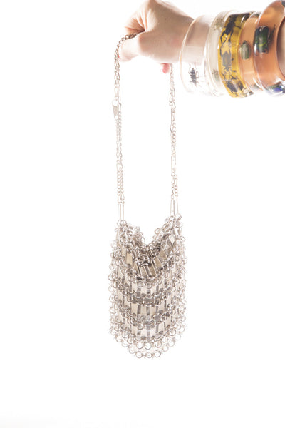 zipper luxboheme metal mesh bag