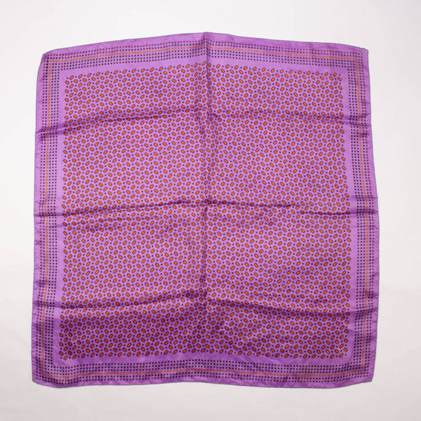 Morsly Metallic Purple Scarf Vintage Accessories Made in Italy