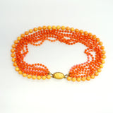 Orange Torsade Necklace Vintage Plastic Jewelry