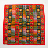 Red Green Scarf Made in Italy Vintage Accessories