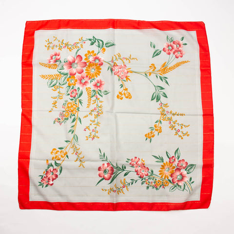 Asian Style Floral Scarf Vintage Accessories