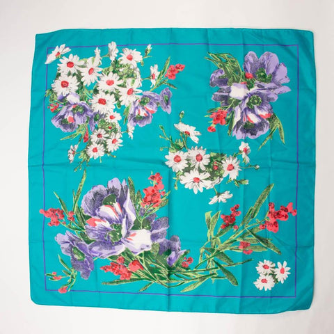 Glentex Floral Scarf Vintage Accessories made in Italy