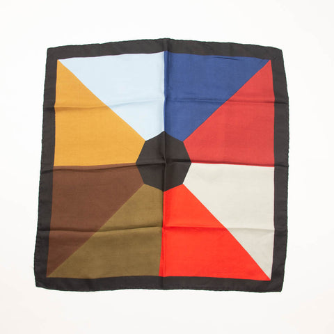 Ashear Geometric Colorful Scarf Vintage Accessory