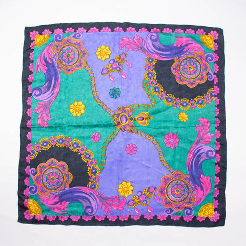 Eccentric Retro Colorful Scarf Vintage Accessory