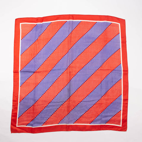 Red Striped Scarf Vintage Accessory