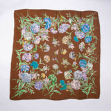Brown Floral Scarf Vintage Accessory