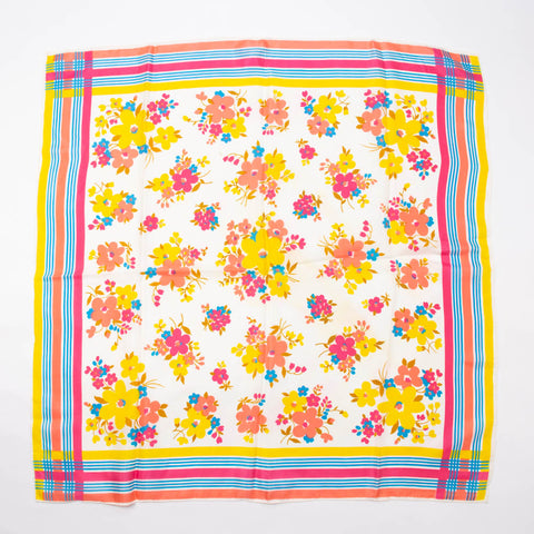 Glentex Colorful Floral Scarf Vintage Accessories