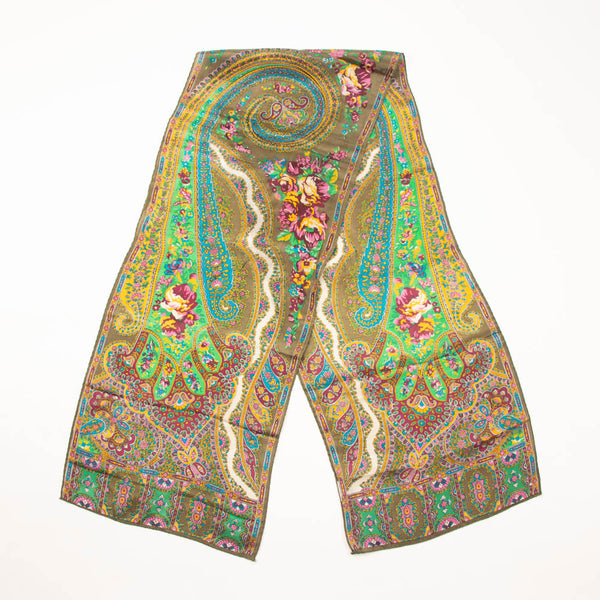 Vibrant Paisley Scarf Vintage Accessory