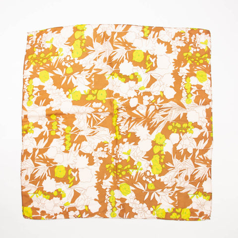 Flower Outline Scarf Vintage Accessory