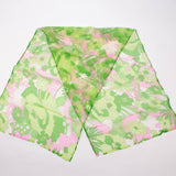 Green Flower Scarf Vintage Accessory
