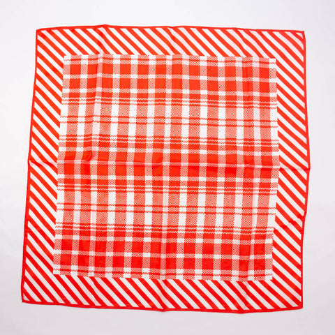 Glentex Plaid Striped Scarf Vintage Accessory