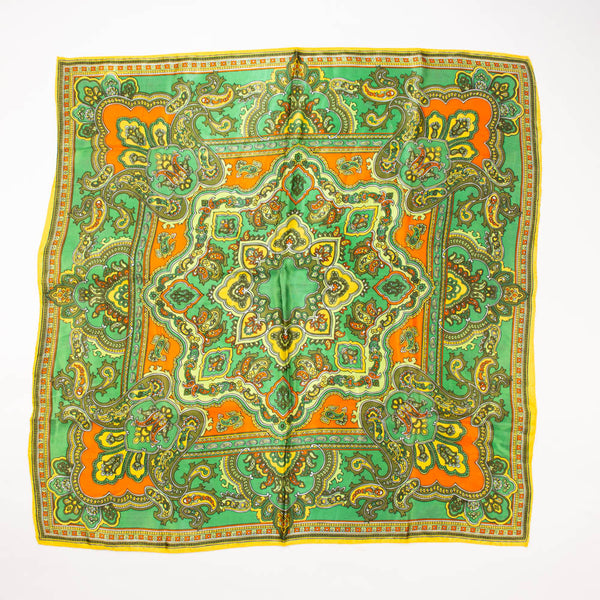 Large Colorful Paisley Scarf Contemporary Accessory