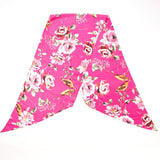 Pink Floral Bird Scarf Contemporary Accessory