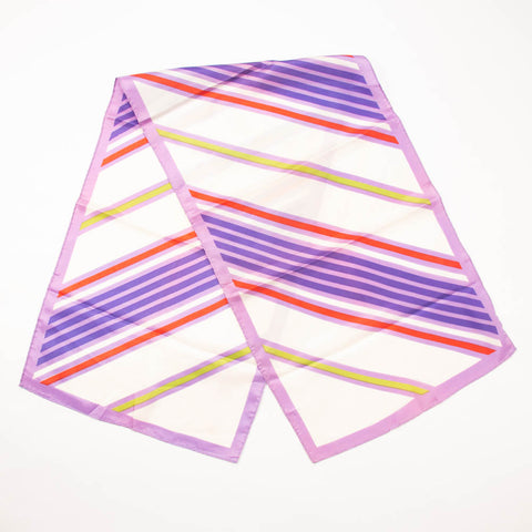 Retro Stripes Scarf Vintage Accessory Made in Japan