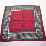 Avon Exclusive Houndstooth Scarf Vintage Accessory Made in Italy