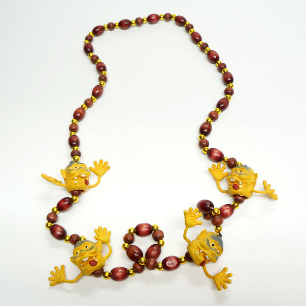 Novelty Pacific Characters Necklace Vintage Plastic Jewelry