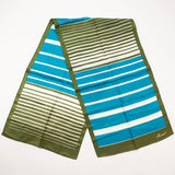 Burmel Striped Long Scarf Vintage Accessories made in Japan