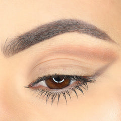 Draw the top line and blend eye shadow