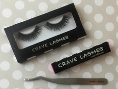 Things you need to put lashes on - lashes, glue and tweezers