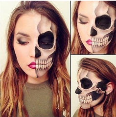 Half Skeleton Makeup Look