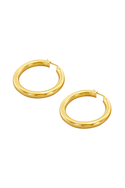 Jupiter Gold Hinged Hoop Earrings