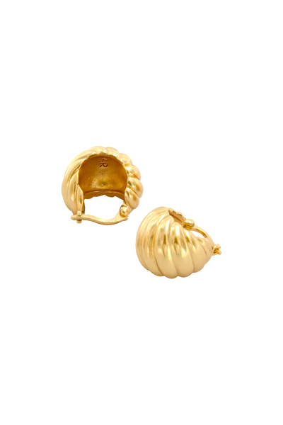 Venus Gold Hinged Hoop Earrings