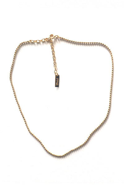 GOLD BALL-CHAIN CHOKER