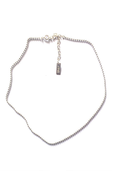 SILVER BALL-CHAIN CHOKER