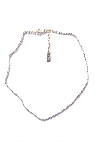 SILVER BALL CHAIN CHOKER