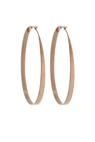 Rosegold Hoop Earrings Medium