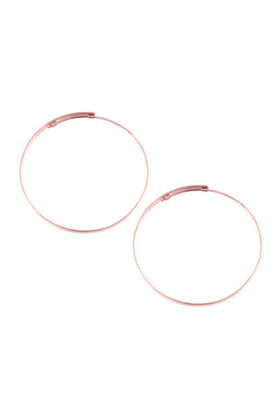 Rosegold Hoop Earrings Large