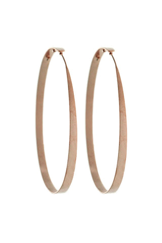 "ESSENTIAL // ""L"" HOOPS IN ROSEGOLD"