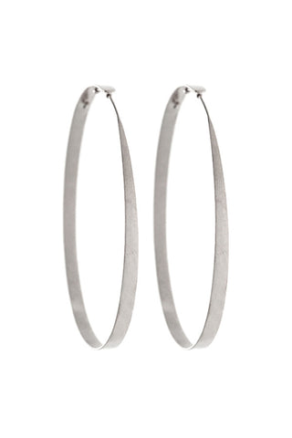 "ESSENTIAL // ""L"" HOOPS IN SILVER"