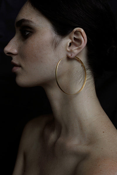GOLD HOOPS 'L'