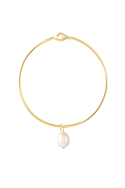 PINK PEARL AMULET + BANGLE