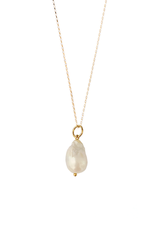 WHITE BAROQUE PEARL AMULET