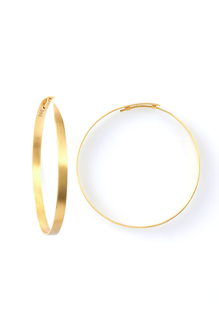 GOLD HOOP EARRINGS LARGE