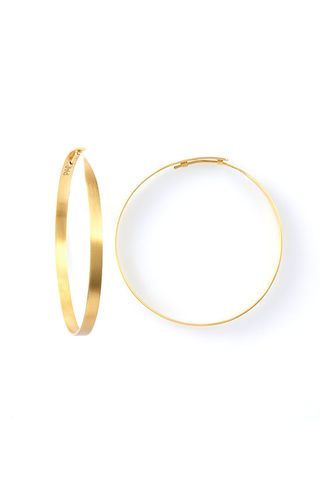 GOLD HOOP EARRING MEDIUM