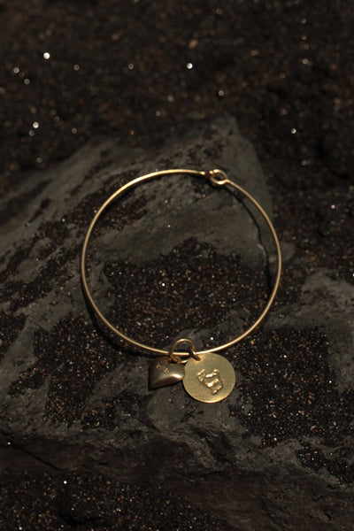 ARIES HEART BANGLE